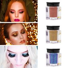 купить Shimmer Loose Eye Shadow Powder Makeup Pigment Waterproof Glitter Eyeshadow 3D Nude Metallic Eyes Powder Cosmetics Natural онлайн