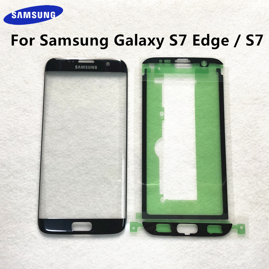 For Samsung Galaxy S7 Edge G935 G935F S7 G930 G930F LCD display outer touch panel screen glass replacement Front Glass Lens(China)
