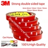 3M 4229 Auto Heavy Duty Mounting Double Sided Adhesive Foam Acrylic Tape Pressure Sensitive Adhesive 6MM*3M Tape Grey Color 1Pcs