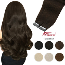 Skin-Weft-Tape Adhesive-Tape Human-Hair In-Extensions Straight-Machine Natural Double-Sided