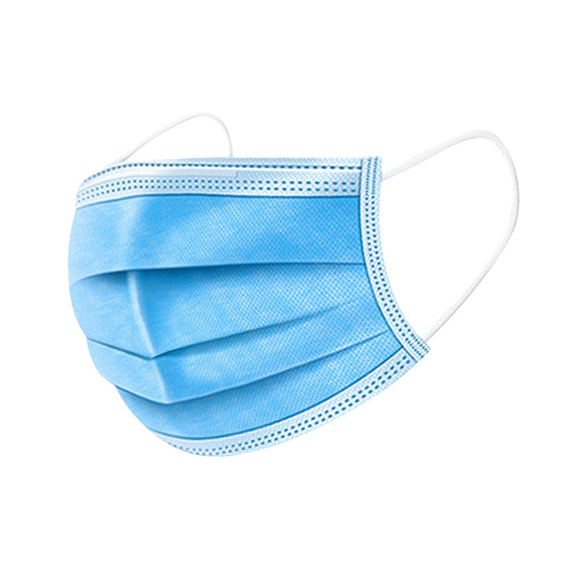 50pcs High Quality 3 Layers Disposable Masks Face Mouth Masks Antivirus Bacterial Flu Earloop Mask Breathable Respiratory 1