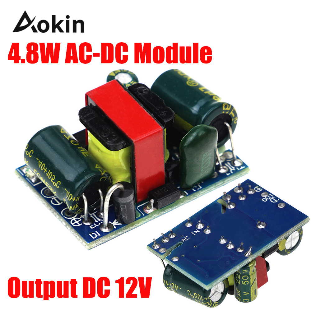 12 V 400mA <font><b>isolated</b></font> switching <font><b>power</b></font> <font><b>module</b></font> 4.8 W AC-DC step-down <font><b>module</b></font> Buck <font><b>module</b></font> 220 V to 12 V image