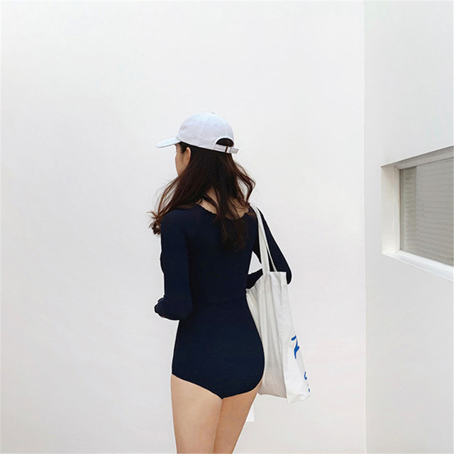Long Sleeve Cut Out Swimsuit