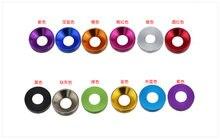 M2m2.5m3m4 цветная цилиндрическая головка из алюминиевого сплава, головка чашки, шестигранный винт, прокладка, шайба болта, Huawei meson 10 шт.