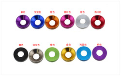 M2m2.5m3m4 color aluminum alloy cylindrical head, cup head, hexagon socket screw, gasket, bolt washer, Huawei meson 10PCS