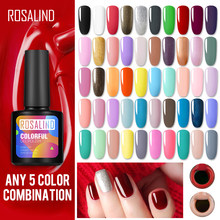 Rosalind 10 Ml Gel Nail Polish UV Warna Kuku Gel untuk Nail Art Pernis Pernis Semi Permanen Acryl Hybrid Gel pernis Top Coat(China)