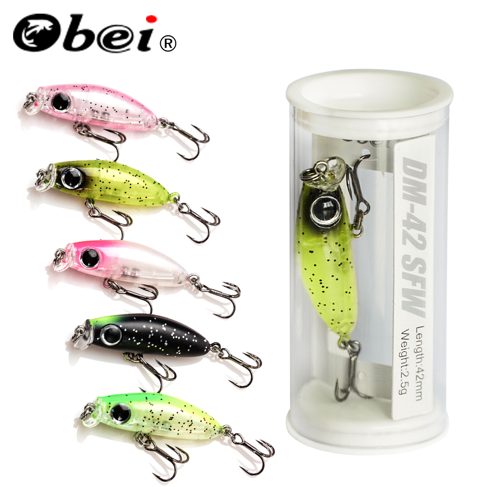 OBEI 2019 hot model fishing lures hard bait 5color for choose 42cm 2.5g minnow quality professional minnow depth0.5-4.2m