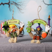 Welcome Sign Witch Knocker Wall Hanging Door Decoration Home Prop For 2019 Halloween Bar Decor Party Kit Shopping Clubs Sign(China)