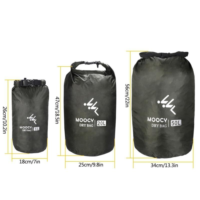 5L/20L/50L Portable Swimming Bag Waterproof Dry Bag Roll Top Sack Rafting Boating Kayaking Dry Organizer Beach Storage Bag