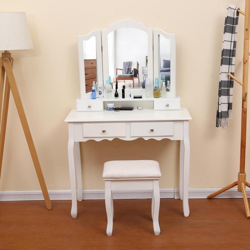 Dresser Table 4pcs Drawer Stool 3pcs