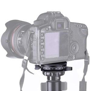 Image 5 - Socle de caméra avec plaque Arca Style suisse, tête de trépied à billes panoramique en aluminium à vis de 0.95Cm avec niveau à bulle, capacité de charge 2
