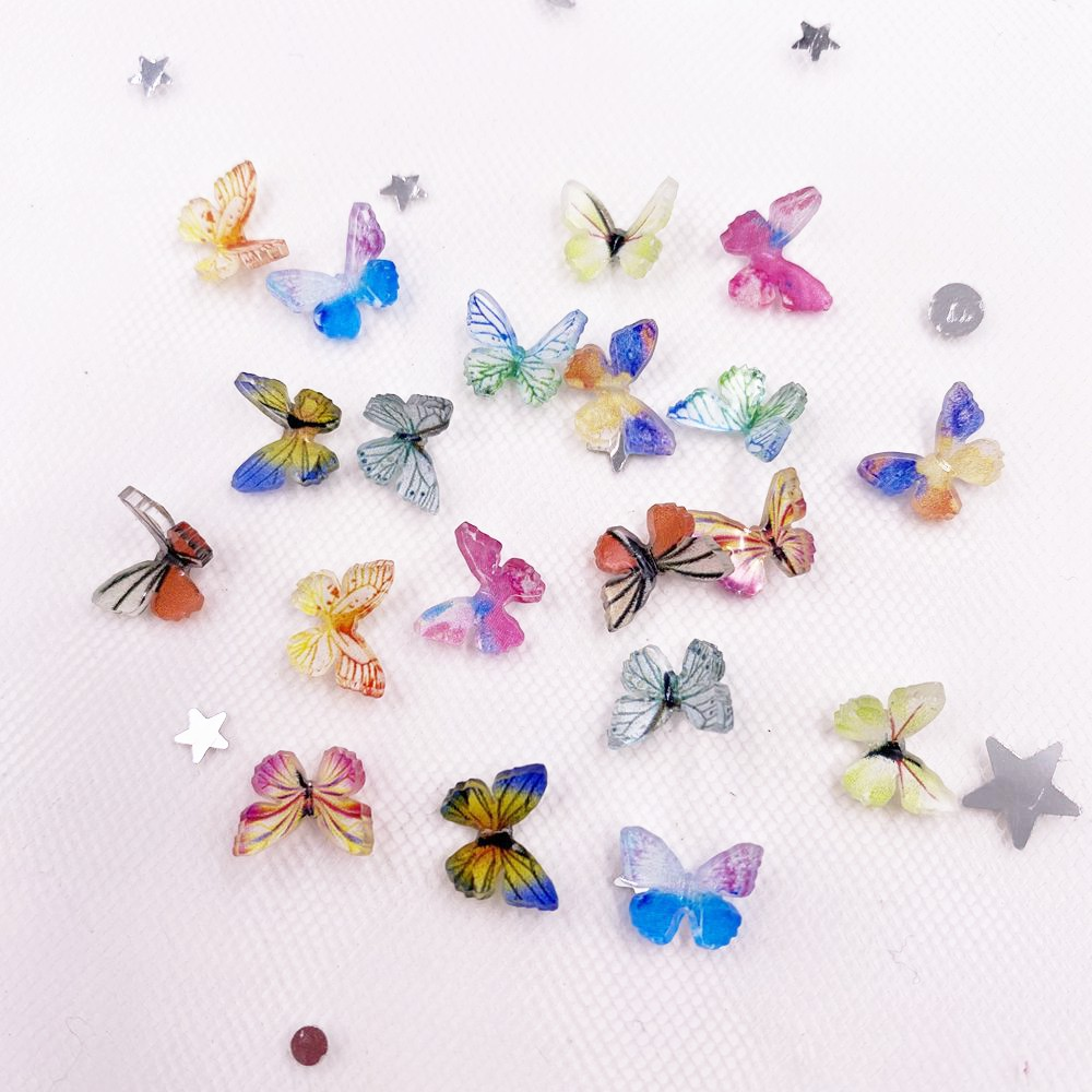 3D красочный блеск мини-колесо Бабочка Дизайн ногтей AB миниатюрная аппликация с узором Сделай Сам Маникюр Стразы Скрапбукинг Декор Ремесло