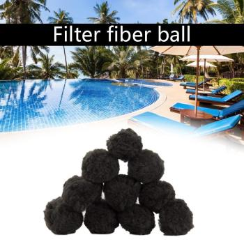 200/500g Filter Balls Water Purification Fiber Ball Filter Deoiling Fiber Ball Swimming Pool Spa Practical The filter cartridge image