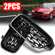 1 Pair F30 Car Styling Grill M3 Style F31 Kidney Black Replacement Grille Gloss For BMW 3 Series 2012-2016