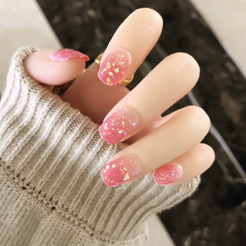 Adhesive Nail Finished Product Nail Sticker Can Be Repeated Disassembly Western Style Social Cool Fashion Japanese-style Fake Na