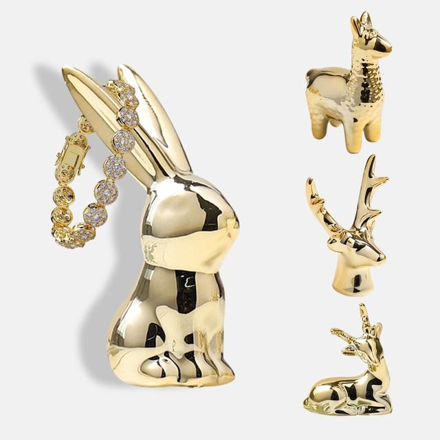 Ins Creative Ornaments Ceramic Crafts Home Wedding Decoration Accessories Modern Living Room Porch Roomporch Miniature Figurine 3