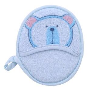Enfants dessin animé brosses de bain ours coton infantile frotter éponge gants bébé serviette accessoire lavage corps éponge brosse
