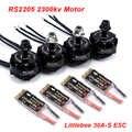 RS2205 2205 2300KV CW CCW ブラシレスモーター + LittleBee 30A BLHeli_S esc FPV Rc ドローン火星 II QAV-R 220 ミリメートルカメレオン