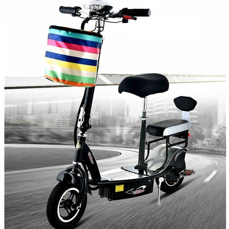 Ladies Women Mini Electric Bike 2 Wheels Electric Bicycles Folding Electric Scooter 350W 10AH 25KM/H