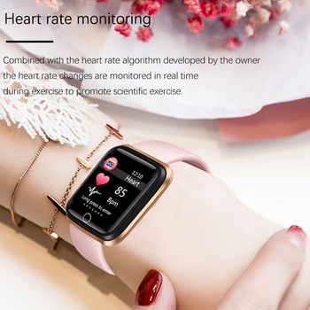купить на алиэкспресс, Женские спортивные Смарт-часы LIGE, IP67 водонепроницаемые часы с шагомером, пульсометром, цветным светодиодным экраном для Android и ios