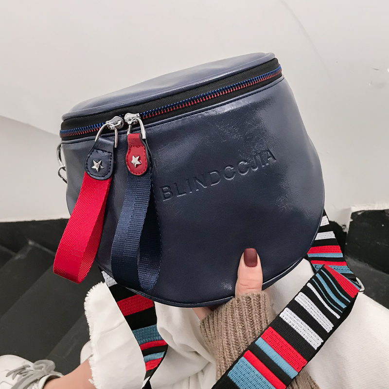 2019 Louis Branad Crossbody Bag For Women Messemger Bags Pu Leather Shoulder Bag Fashion Famous Brand Lady Semicircle Saddle