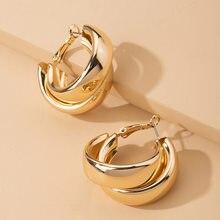 Модные женские серьги Стразы, круглые серьги для женщин, геометрические серьги CC, женские металлические серьги, модные элегантные ювелирны...