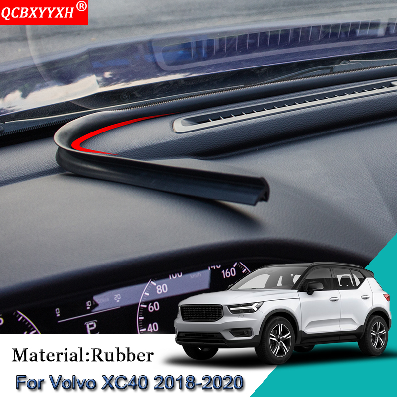 Car Styling Rubber Anti Noise Soundproof Dustproof Car Dashboard Windshield Sealing Strips Accessories For Volvo XC40 2018 2020|Sound & Heat Insulation Cotton| |  - title=