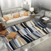 Abstract style Gold black gray Geometric lines pattern floor mat Bedroom carpet  living room velvet carpet custom made rug abstract pattern floor mat
