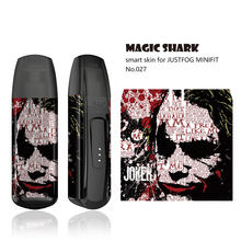 Magic Shark Stereo 3M Dragon Ball Joker Simpson Panda Snake Skull Evil Sticker Tape Film Cover Case for JUSTFOG MINIFIT(China)