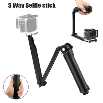 3 Way Grip Waterproof Selfie Stick Tripod Stand For GoPro Hero 8 7 6 5 4 Session For Yi 4K Sjcam Eken For Osmo Action accessory