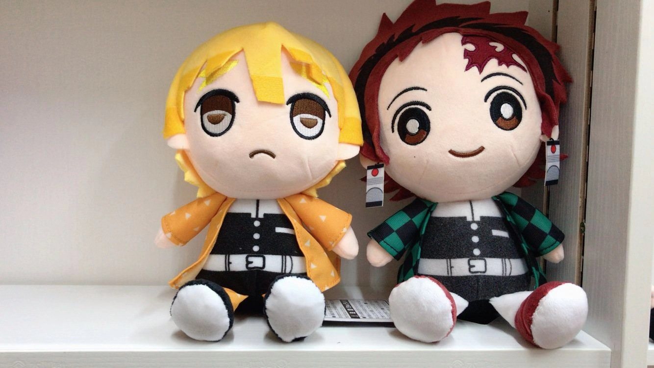 28CM Demon Slayer: Kimetsu No Yaiba Kamado Tanjirou Agatsuma Zenitsu Stuffed Plush Toy Cute Soft Anime Pillow Cushion Sleep Doll