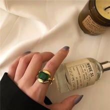 XIYANIKE 925 Sterling Silber Einzigartige Design Big Smaragd Gold Ringe Retro Weibliche Mode Übertreibung Wunderschönen Charme Schmuck Party