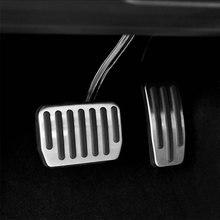 سيارة الراحة دواسة الفرامل غطاء دواسة القدم قذيفة ملصقا الداخلية إطار الزخرفية قذيفة تعديل ل تسلا نموذج 3 اكسسوارات