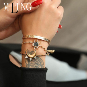 MLING 3 Pcs/Set Vintage Gold C