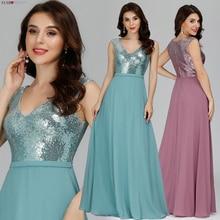Vestido Madrinha אי פעם די בורגונדי שושבינה שמלות אונליין V צוואר סקסי נצנצים חתונת אורחים שמלות Sukienka Wesele 2020