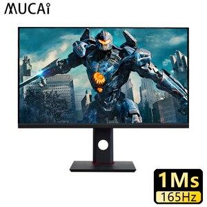 Монитор для ПК MUCAI диагональю 27 дюймов, 165 Гц, IPS ЖК-дисплей, HD игровой настольный компьютер, плоская панель HDMI/DP