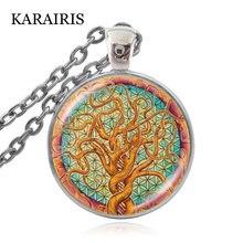Karairis Новые ожерелья с цветком жизни винтажные священной