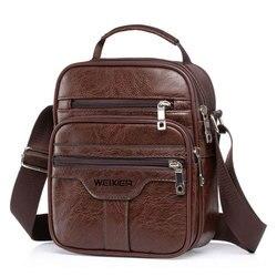 Новинка 2021, винтажная сумка, Мужская маленькая сумка через плечо, Наплечные сумки, деловая дорожная сумка-слинг для офиса, мужская сумка, сум...