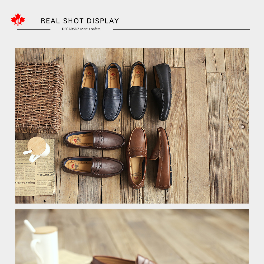 Hd266046fc4074ba688cfc6ee5671c0aeU Men's Casual Shoes Men Moccasins Autumn Fashion Driving Boat Shoes Male Leather Brand Slip-On Classic Men's shoes Loafers