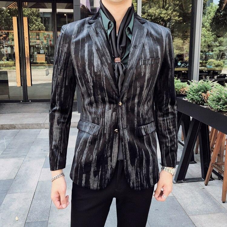 homens terno blazer blazer manga completa clássico