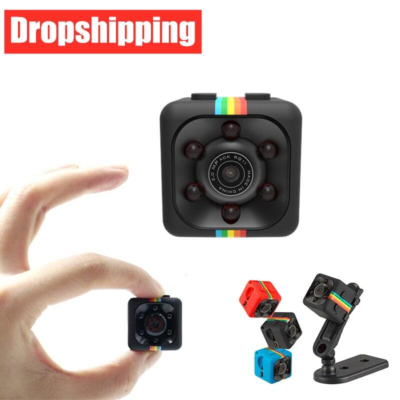 Dropshipping sq11 mini câmera sensor de visão noturna camcorder movimento dvr micro câmera esporte dv vídeo pequena câmera cam sq 11