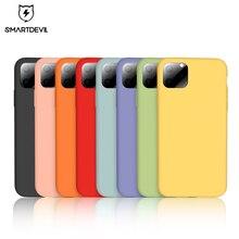SmartDevil 소프트 실리콘 전화 케이스 아이폰 7 8 플러스 X XS 11 프로 최대 화면 보호기 강화 유리 완전히 덮여 케이스 선물
