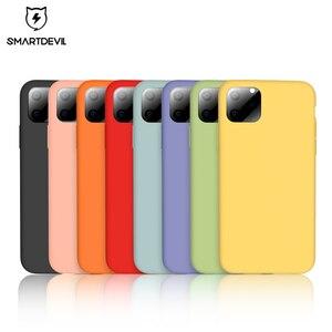 Image 1 - Мягкий силиконовый чехол SmartDevil для iphone 7, 8 Plus, X, XS, 11 Pro, Max, защита экрана из закаленного стекла, полностью покрытый чехол в подарок