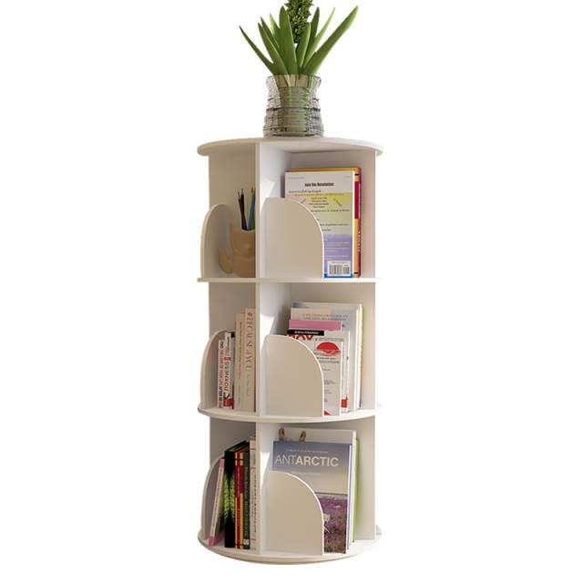 Creative Revolving Bookshelf, Simple Modern Floor  Bedroom Office, Primary School Student's Economic  Storage Ra