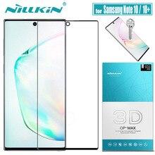 Pour Samsung Note 10 Plus 5G verre protecteur décran Nillkin 3D couverture complète colle sécurité verre trempé pour Galaxy Note 10 + Note10