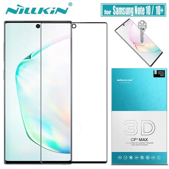 Samsung Not 10 Artı 5G Cam Ekran Koruyucu Nillkin 3D Tam Kapak Tutkal için Güvenlik Temperli Cam Galaxy not 10 + Note10