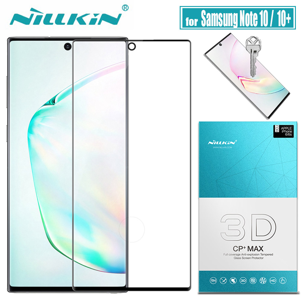for Samsung Note 10 Plus 5G Glass Screen Protector Nillkin 3D Full Cover Glue Safety Tempered Glass for Galaxy Note 10+ Note10-in Phone Screen Protectors from Cellphones & Telecommunications