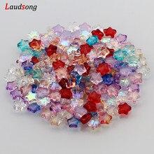 Perle di vetro ceche a forma di stella di colore sfumato misto AB per gioielli che fanno accessori fatti a mano braccialetto collana fai da te