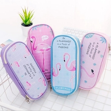 Flamingo Pencil Case School Cases for Girls Supplies Stationery Cute Big Box Bag Pencilcase Tool
