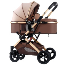 baby stroller 2 in 1 stroller lying or dampening folding light weight two-sided child four seasons